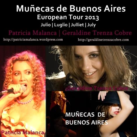 Flyer Muñecas 1 de Buenos Aires European Tour