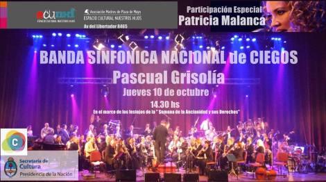 LA MALANCA invitada por la SINFONICA DE CIEGOS en el ECUNHI - jueves 10