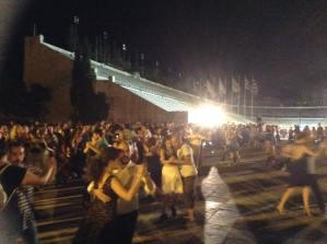 Estadio Kalimarmaro de Atenas. Milonga celebracion Bicentenario Independencia Argentina